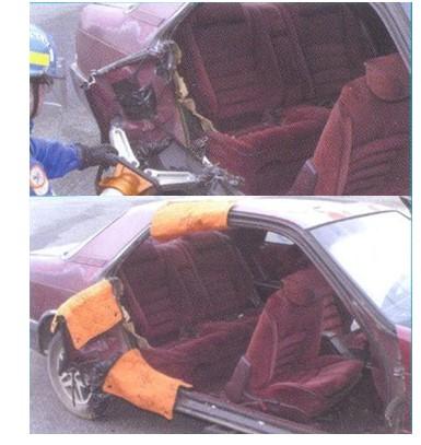 деблокирование людей из автомобиля