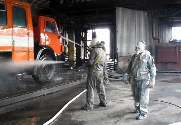 Дезактивация пожарной техники вооружения