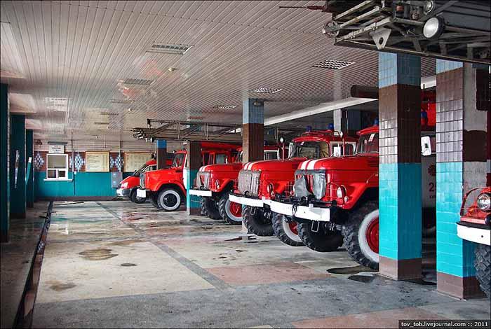 Гараж помещения пожарной техники