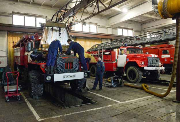 Техническое обслуживание пожарной техники