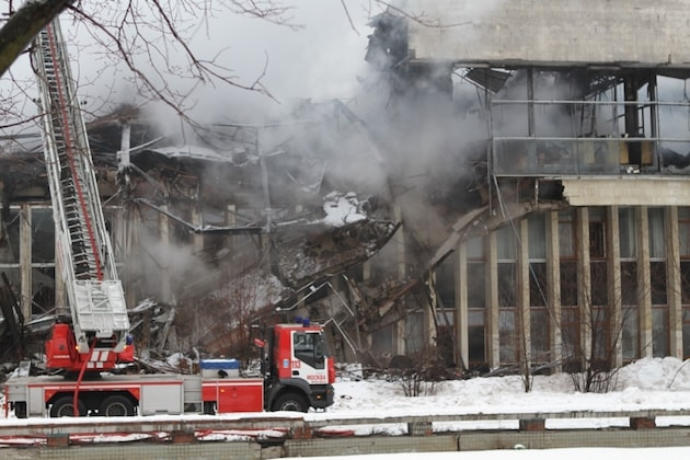 Тушение пожаров повреждённых зданий