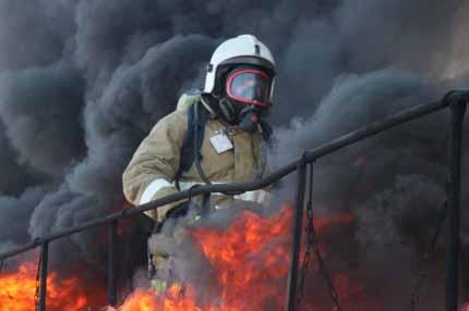 Тушение пожаров в непригодной для дыхания среде