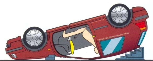 технология спасения при опрокидывании автомобиля