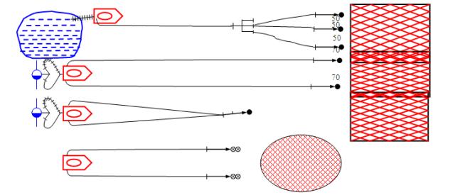 схема подачи стволов отделений на АЦ