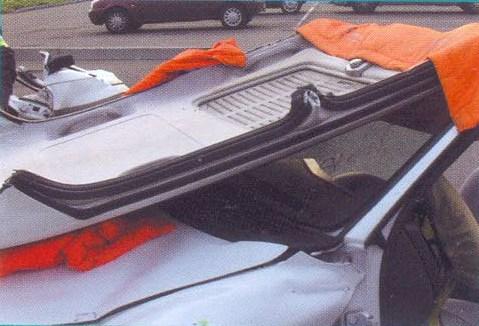 откидывание крыши автомобиля вбок
