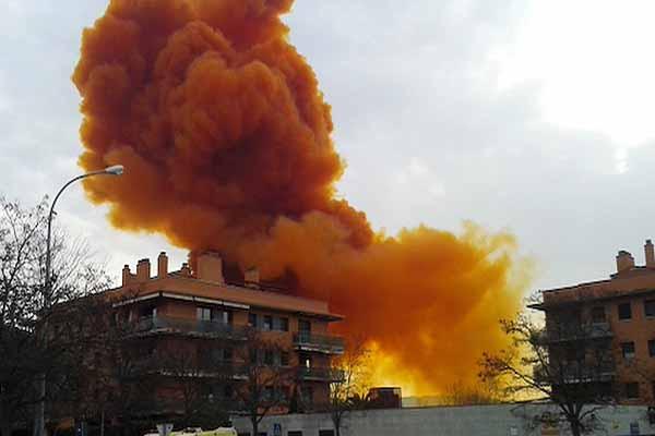 развитие пожаров с АХОВ