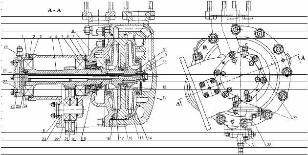 Ступень высокого давления насоса НЦПК-40/100-4/400