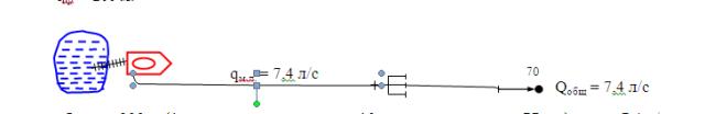 Определить предельное расстояние по подаче 1 ствола
