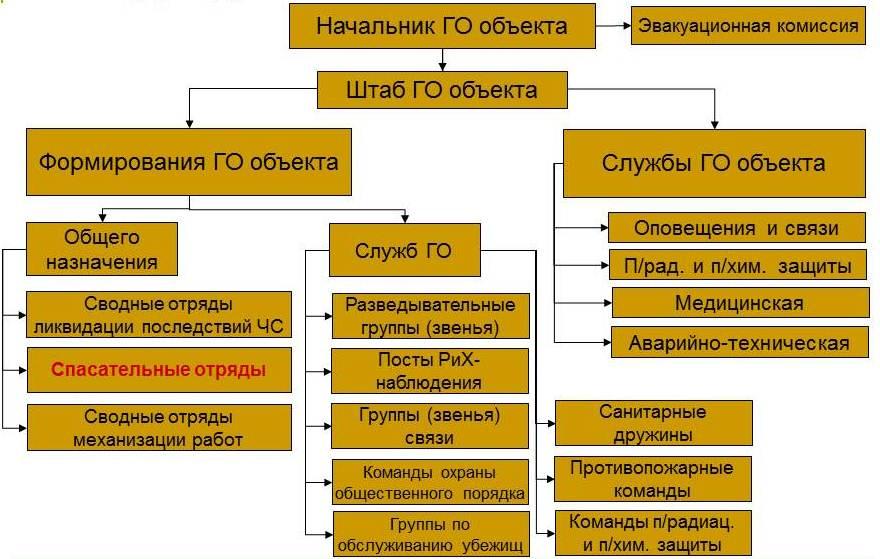структура ППС ГО