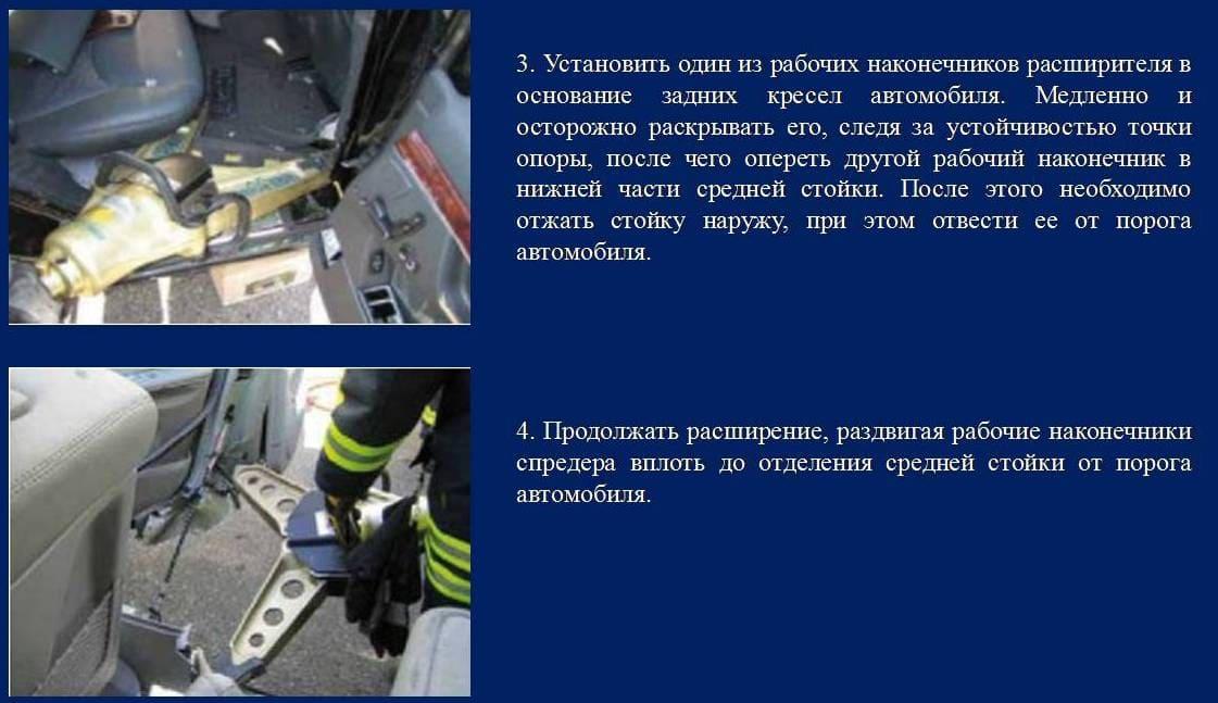 Технология демонтажа боковой стороны автомобиля 1 вариант