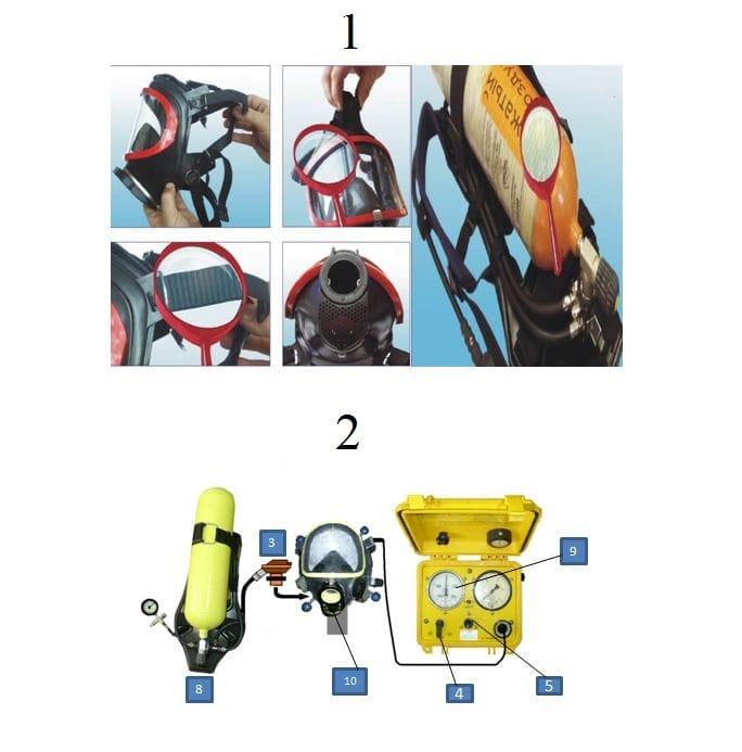 Проверку 1 дыхательного аппарата АП на КУ-9В