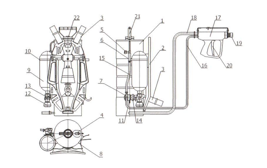 Схема устройства РУПТ-1-0,4 модель 01