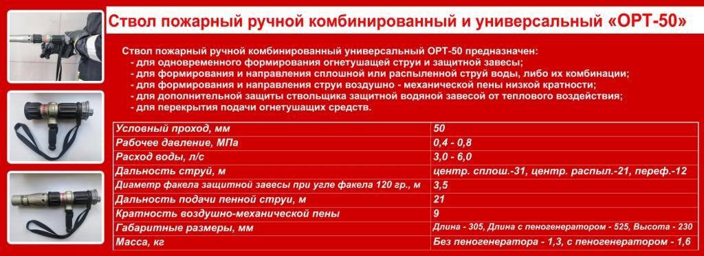 ОРТ-50 ТТХ