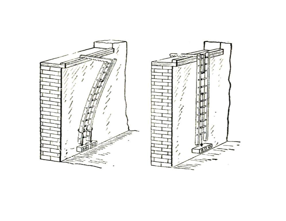Испытание штурмовой лестницы