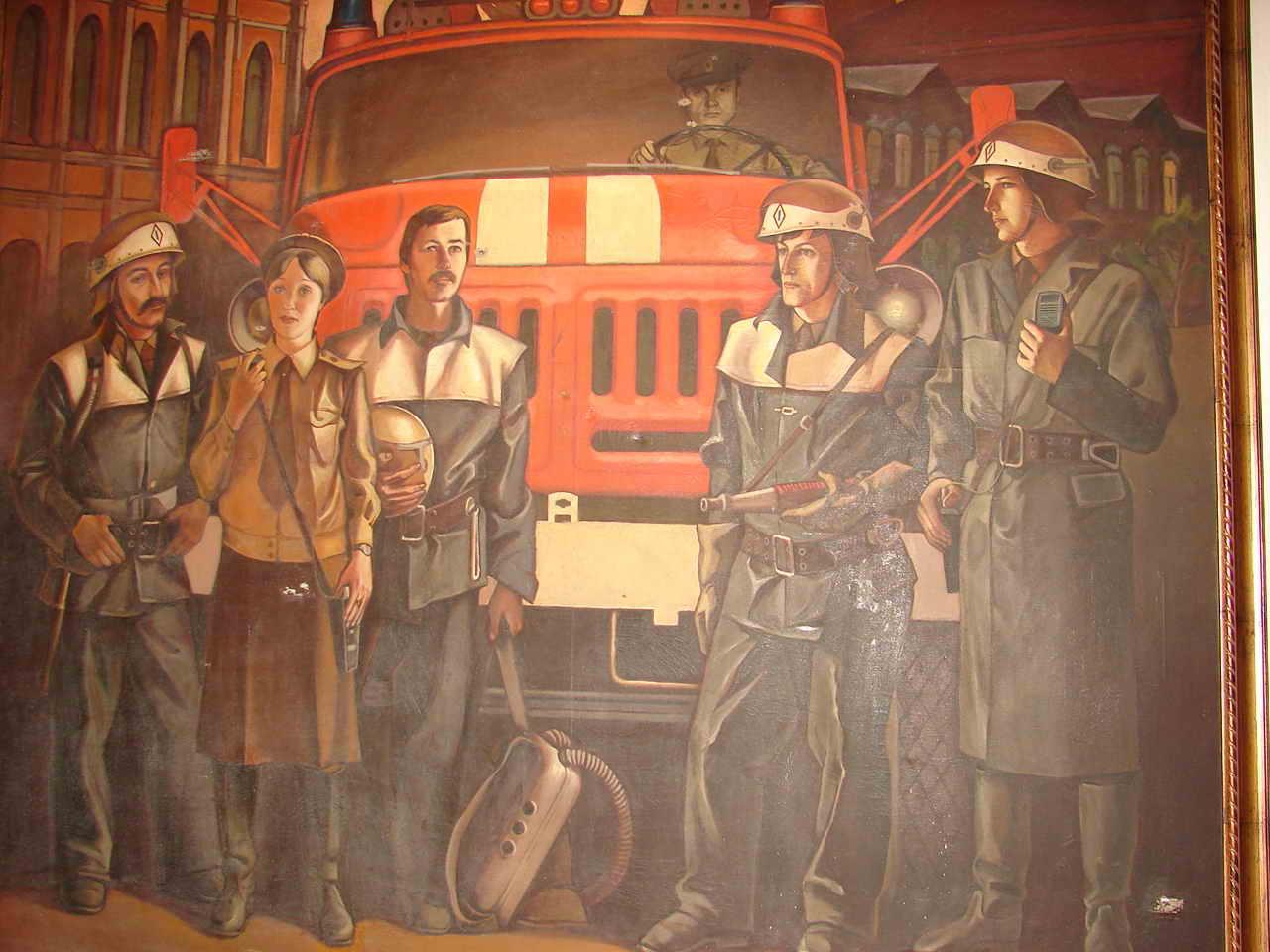 Старые открытки пожарных