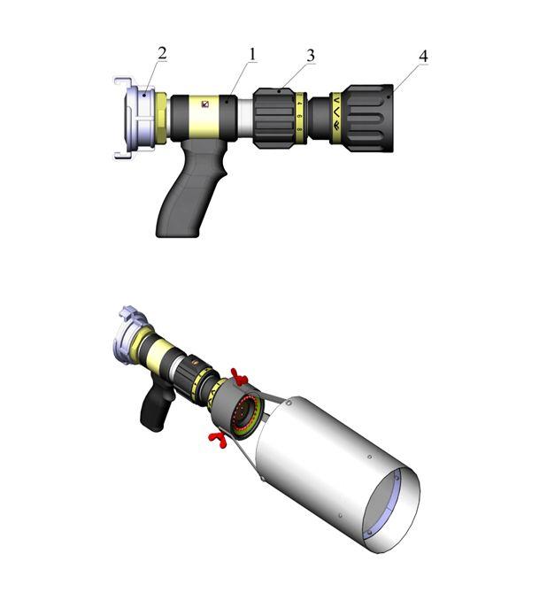 Описание пожарного ствола КУРС-8