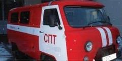 Способ размещения ПТВ и оборудования в салоне штабного пожарного автомобиля УАЗ (АШ-5)