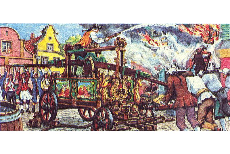Тушение пожара в 18 веке