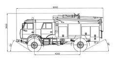 Тактико-технические характеристики пожарного автомобиля АЦ 3.0-40 (4326)