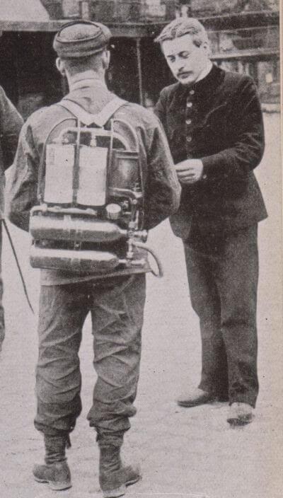 Дыхательный аппарат Drager модель 1904 г.