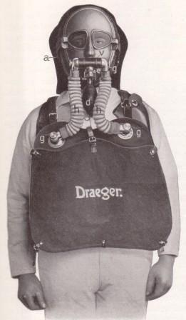Дыхательный аппарат Drager модель 1915 г.