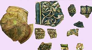 Фрагменты керамики, найденной при раскопках Увека
