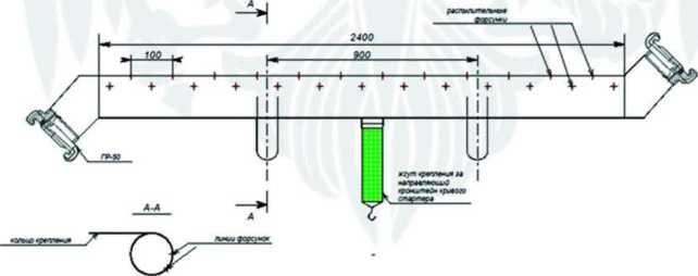 Конструктивная схема перфорированного сухотруба