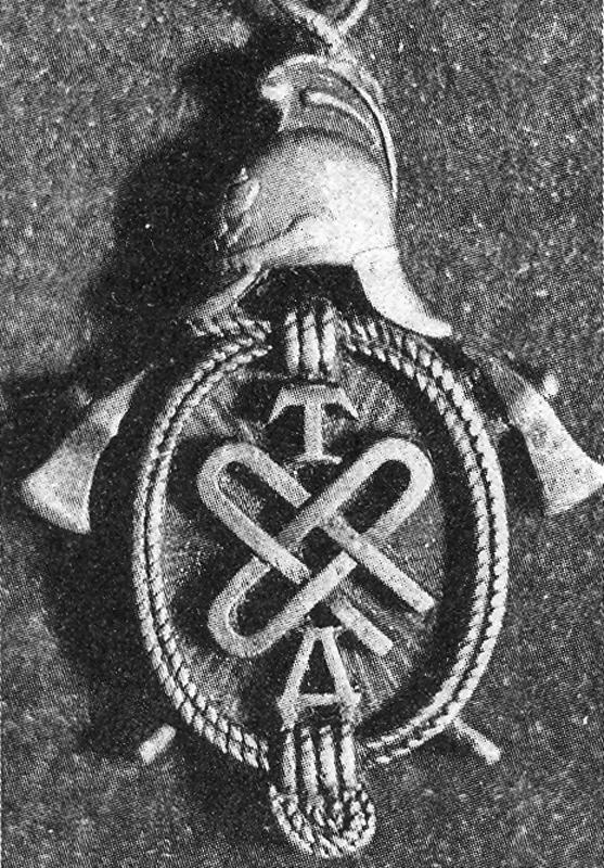 Наградной знак ТДПО Н.Ф. Митрофанову (начальнику охранного отряда). 1905 год.