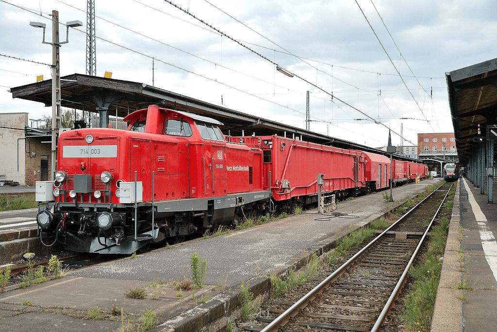 Пожарный поезд ФРГ