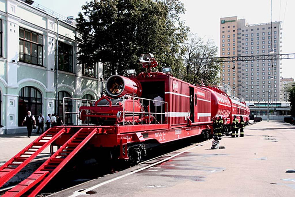 Роботизированный пожарный поезд нового образца