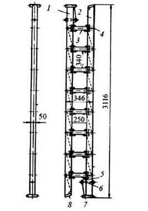 Схема лестницы-палки