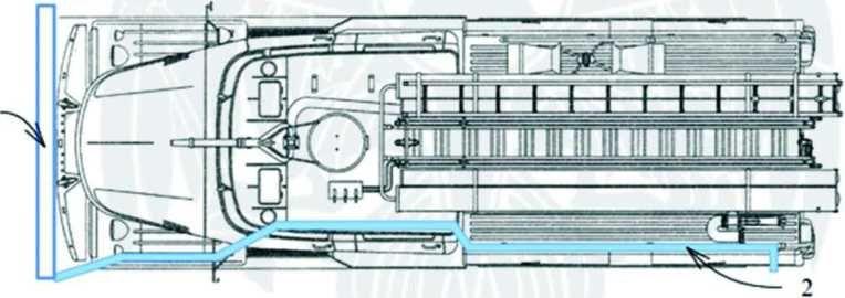 Схема размещения на АЦ 40 131 сухотруба сверху