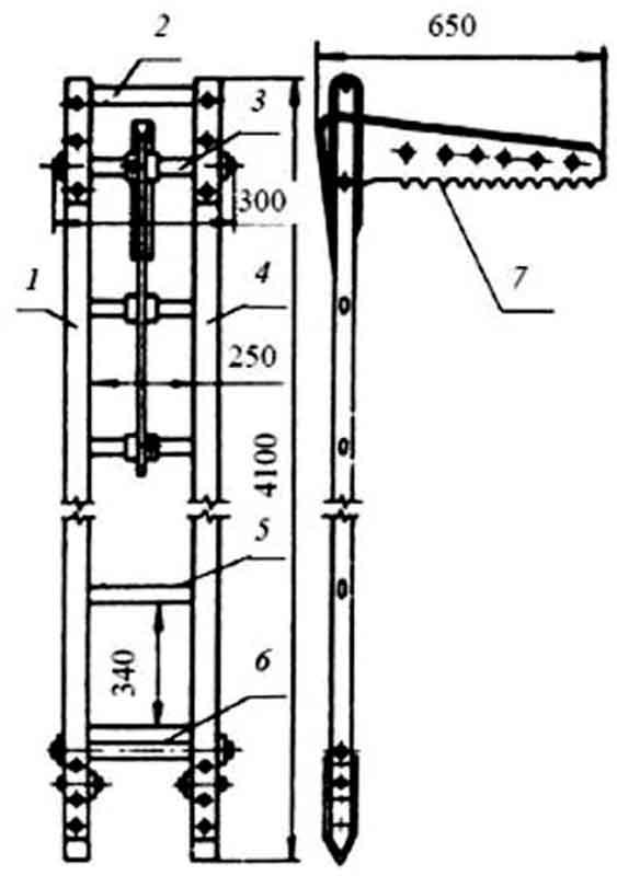 Схема штурмовой лестницы