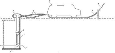 Схема подачи воды от пожарного гидранта