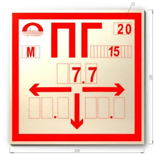 Табличка пожарного гидранта