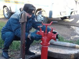Установка пожарной колонки на подземный пожарный гидрант