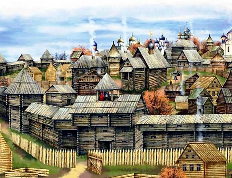 Древний славянский город