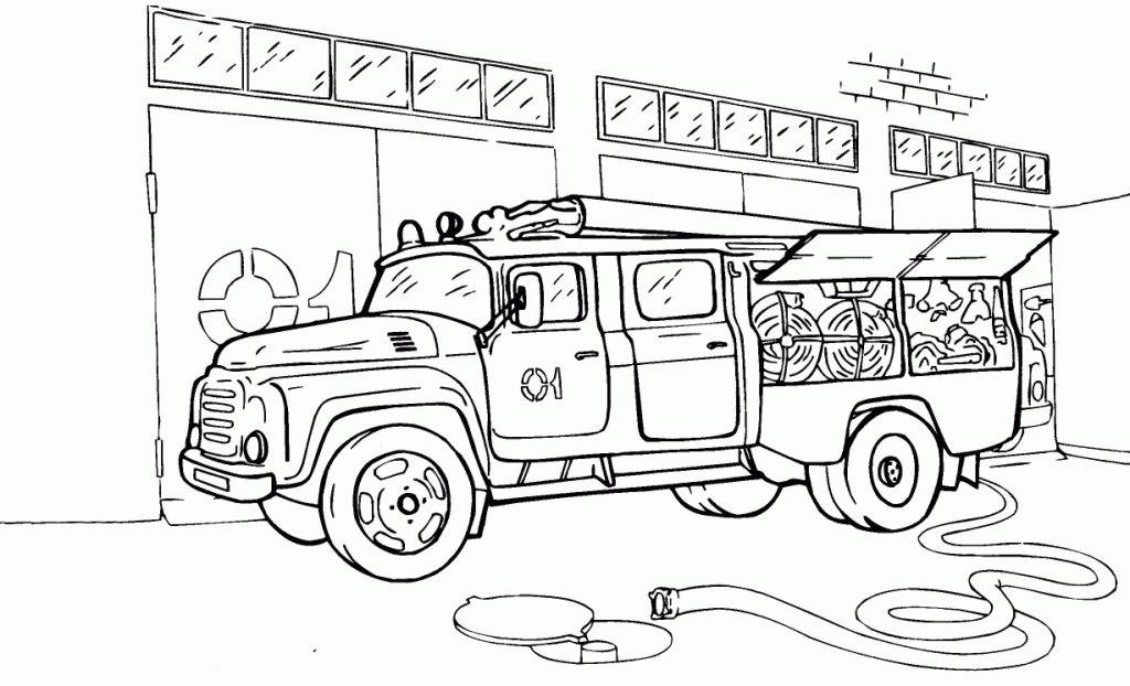 Раскраски автомобили пожарные