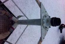 Изготовление стойки-сухотруба. Подача ствола-монитора из люльки АКП-32.
