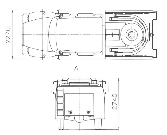 Пожарный автомобиль АЦ-1.0-30 (33081) (схема)