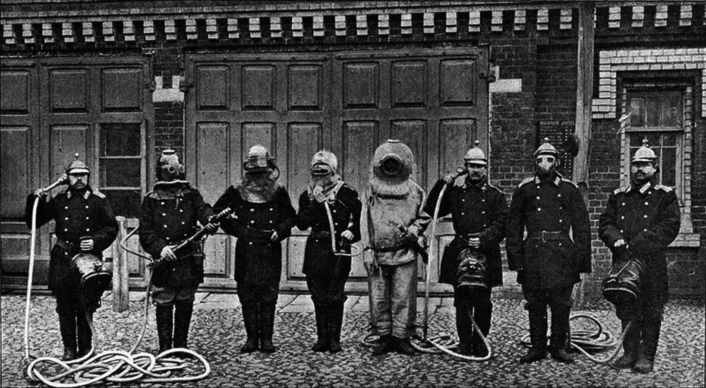 Аппараты защищающие пожарных при тушении пожаров применявшиеся в московских пожарных командах в 1903 году
