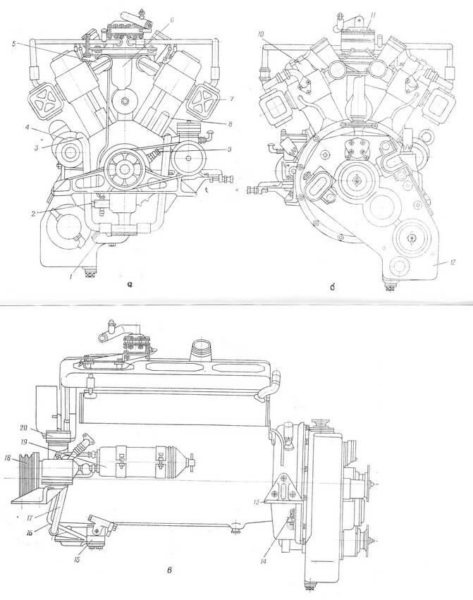 Двигатель Д12А-375А в сборе