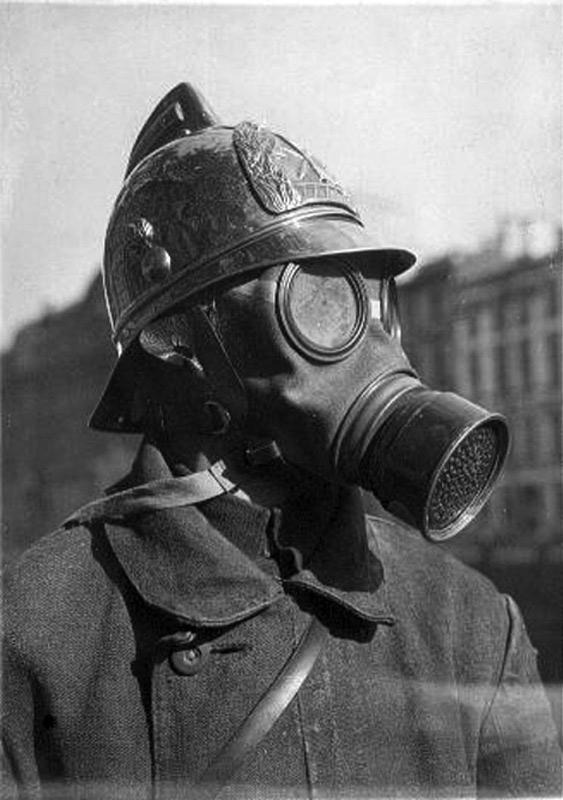 Фильтрующий противогаз во время Первой мировой войны