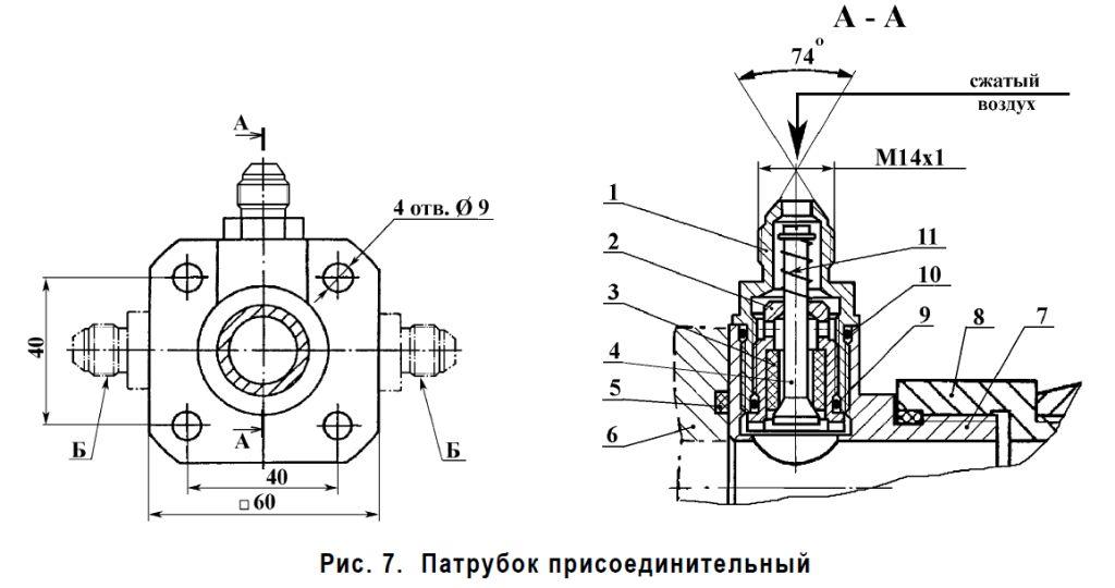 Патрубок присоеденительный КРВД-400-60А 90А