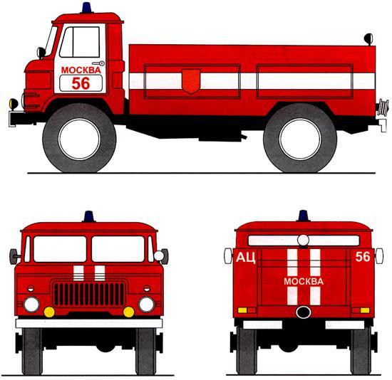 Окраска и маркировка пожарного автомобиля