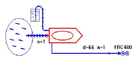 Подача пены с забором пенообразователя от внешней емкости