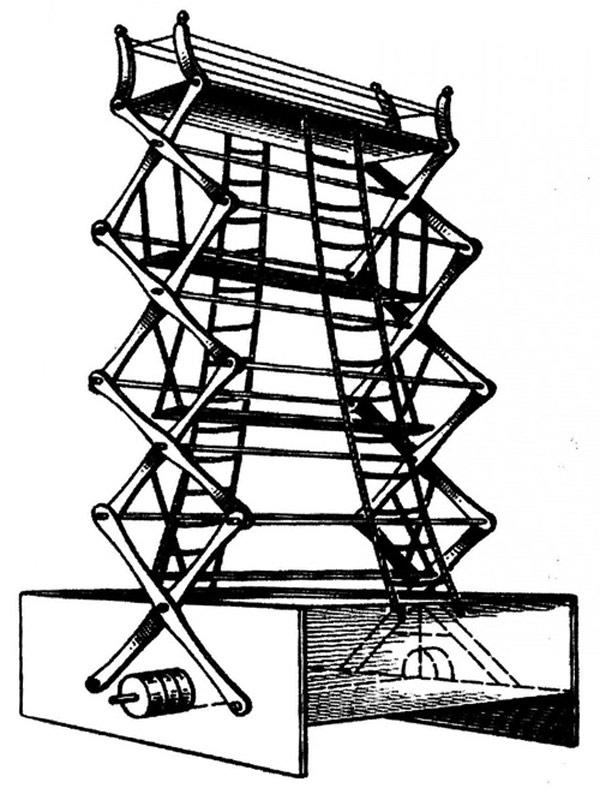 Пожарная лестница Петра Дальгрена (1777 год)