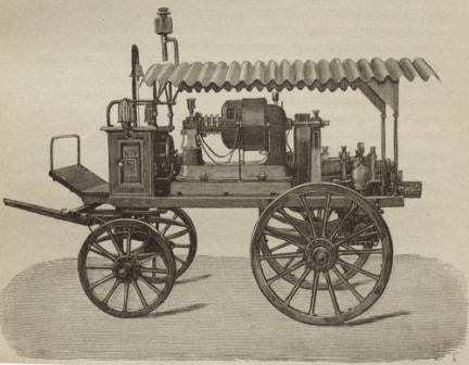 Пожарный электрический насос фирмы Kuminer образца 1892 года
