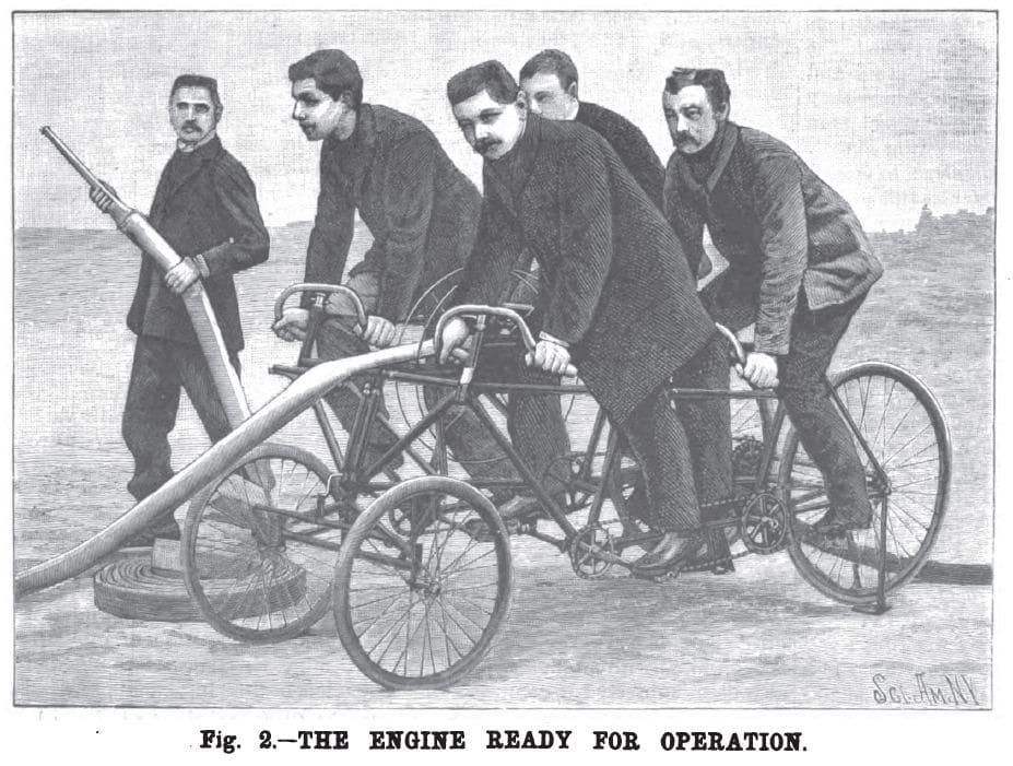 Пожарный велосипед-квадроцикл готов к работе