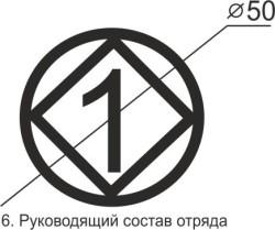 Маркировка для руководящего состава отряда